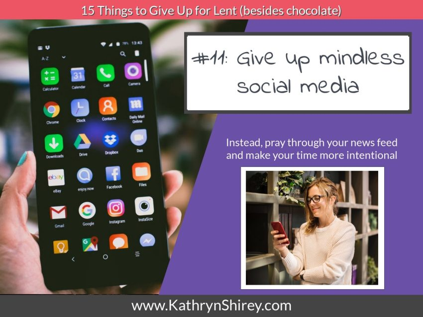 Lent idea #11: give up mindless social media and instead pray through your news feed.