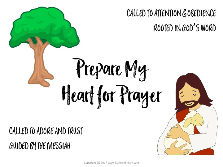 Free worksheet to pray through Psalm 1 & 2 to prepare your heart for prayer
