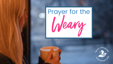 A daily prayer for the weary. Pray for God's rest. Pray for God to carry your burdens and ease your load.