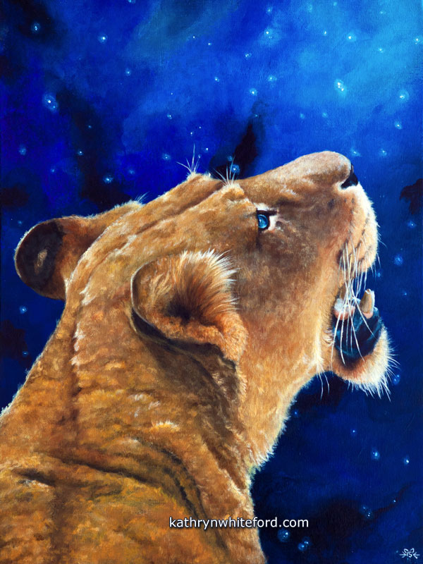 """""""Wonder"""" Acrylics on canvas, 12x16 inches"""