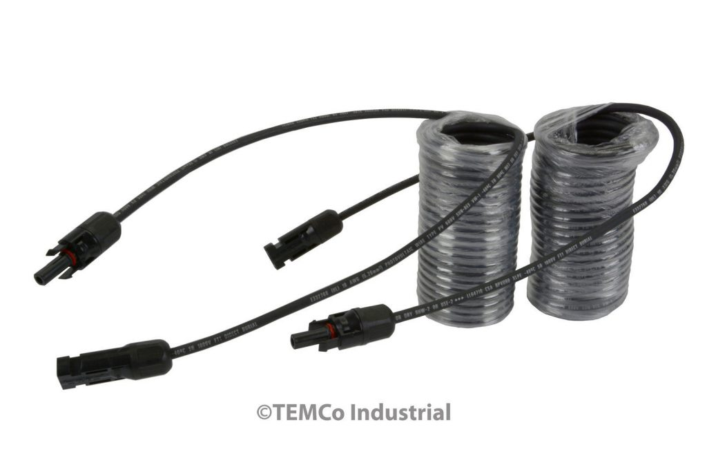 TEMCo MC4 Solar Panel Extension Connector 10 or 12 AWG PV