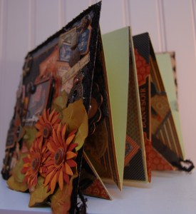 Side view of mini album, showing ingenious accordion fold