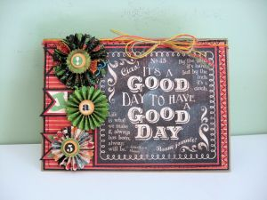 Typography Good Day Card 01