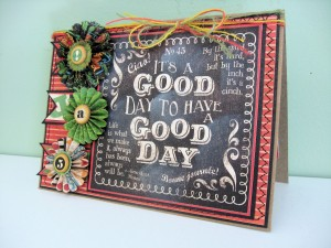 Typography Good Day Card 02