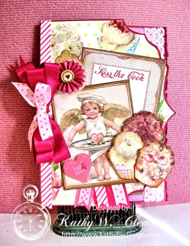Kathy by Design/Cutaway edge Valentine for Really Reasonable Ribbon