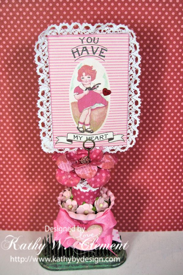 Kathy by Design Valentine Spoolie for Really Reasonable Ribbon