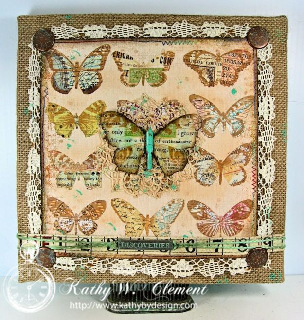 Crafty Secrets Butterfly Canvas 02