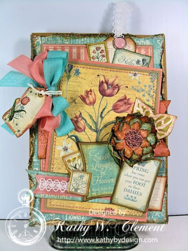 Kathy by Design/Time to Flourish Card for Really Reasonable Ribbon