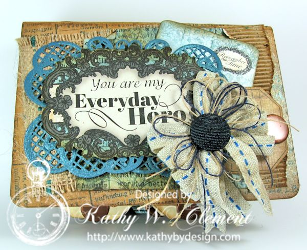 Everyday Heroes Mini Album/http://www.kathybydesign.com