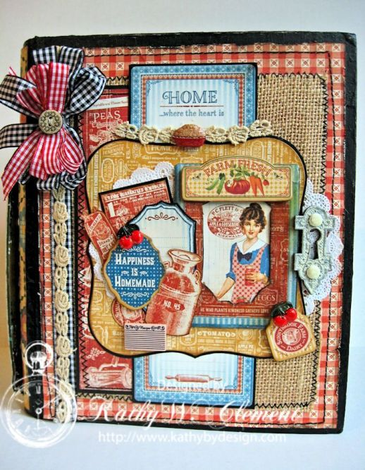 Graphic 45 Home Sweet Home Altered Recipe Book/Kathy by Design