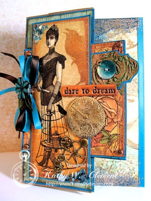 Steampunk Debutante Tag Card/Kathy by Design