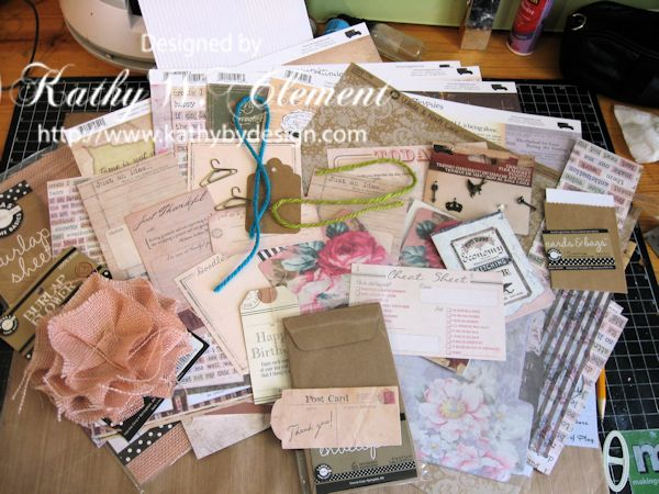 Gypsy Moments Mini Album supplies
