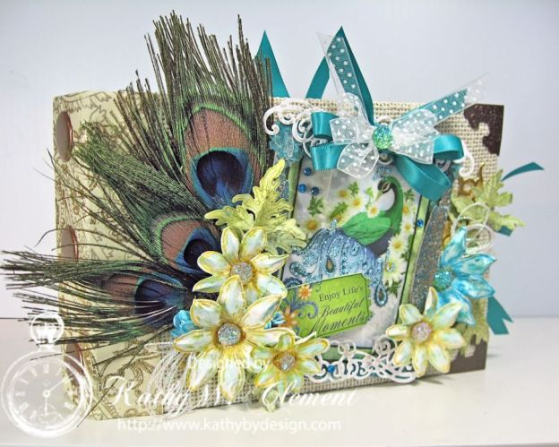 Kathy by Design/Peacock Paisley Mini Album for Heartfelt Creations