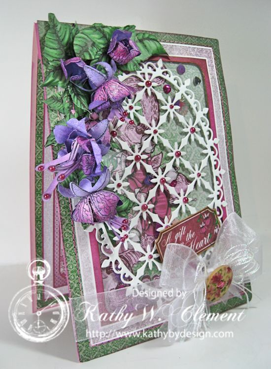 Cascading Fuchsia Shaker Card 02a