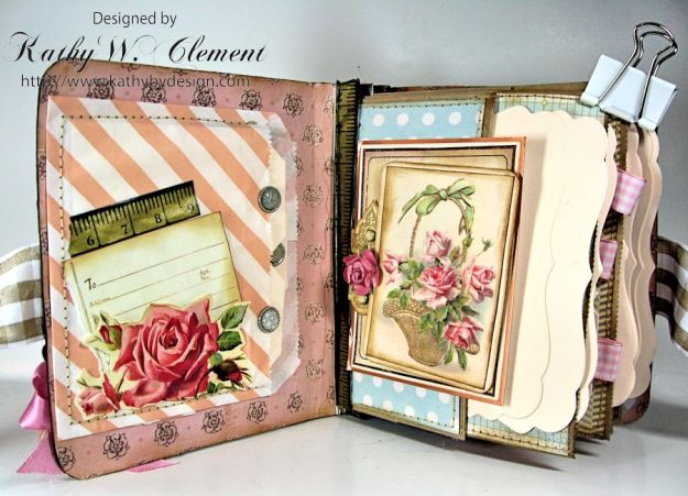 Everythings Coming Up Roses Mini Album Kathy Clement 06
