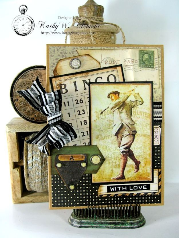 Golf Card 01 Masculine Creativity Kit
