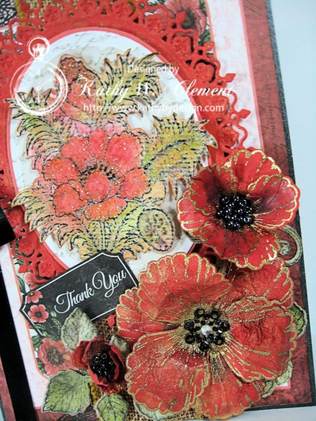 Orange Poppies Card 02