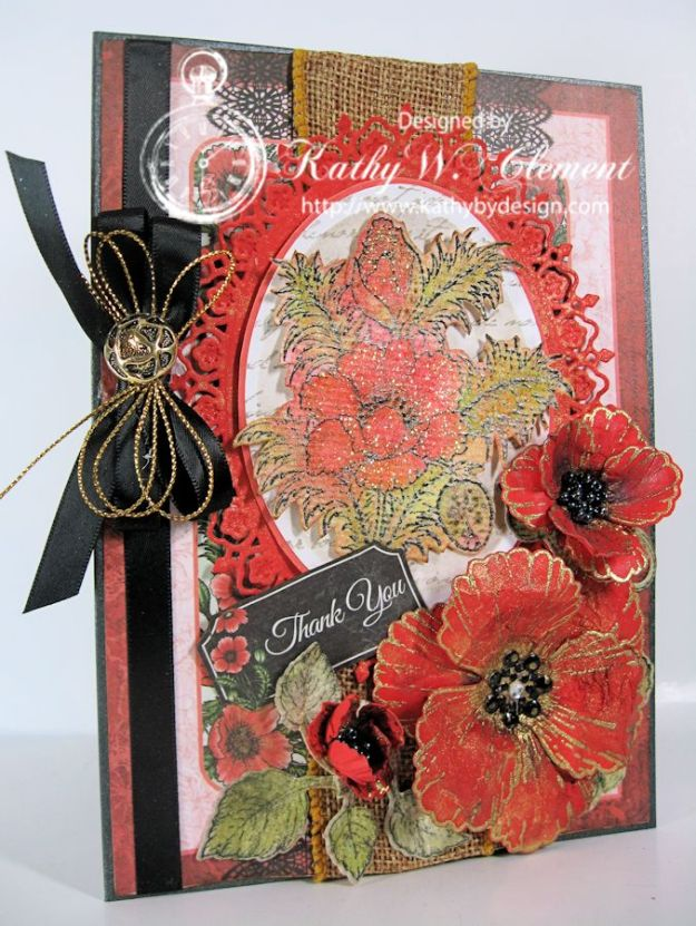 Orange Poppies Card 04