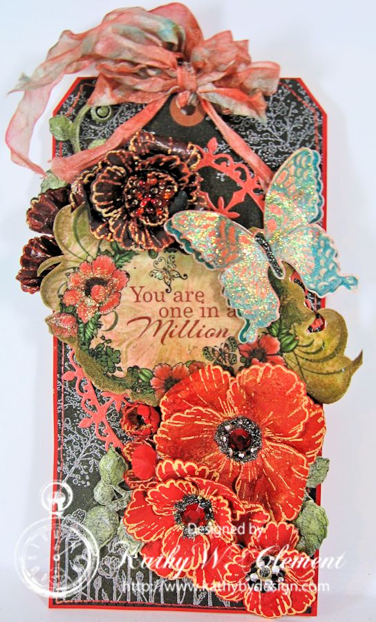 Kathy by Design/Blazing Poppy Jumbo Tag Tutorial
