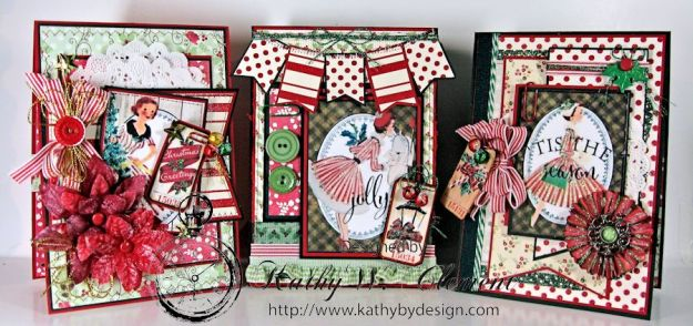Kathy by Design/Pollys Paper Christmas Ladies trio