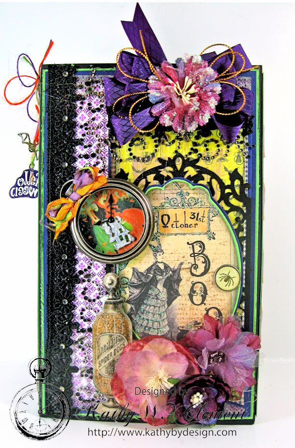 Kathy by Design BOO-tiful Bookcase Style Halloween Mini Album