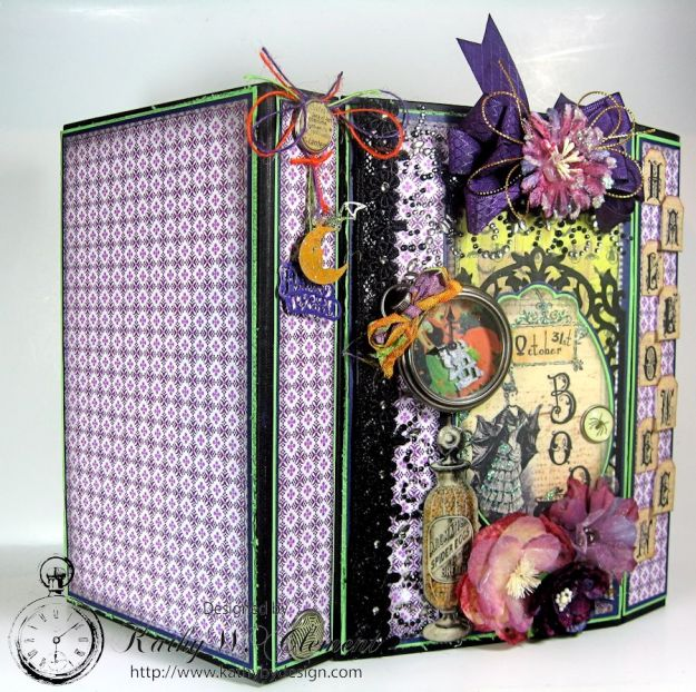 Boo-tiful Bookcase Style Halloween Mini Album
