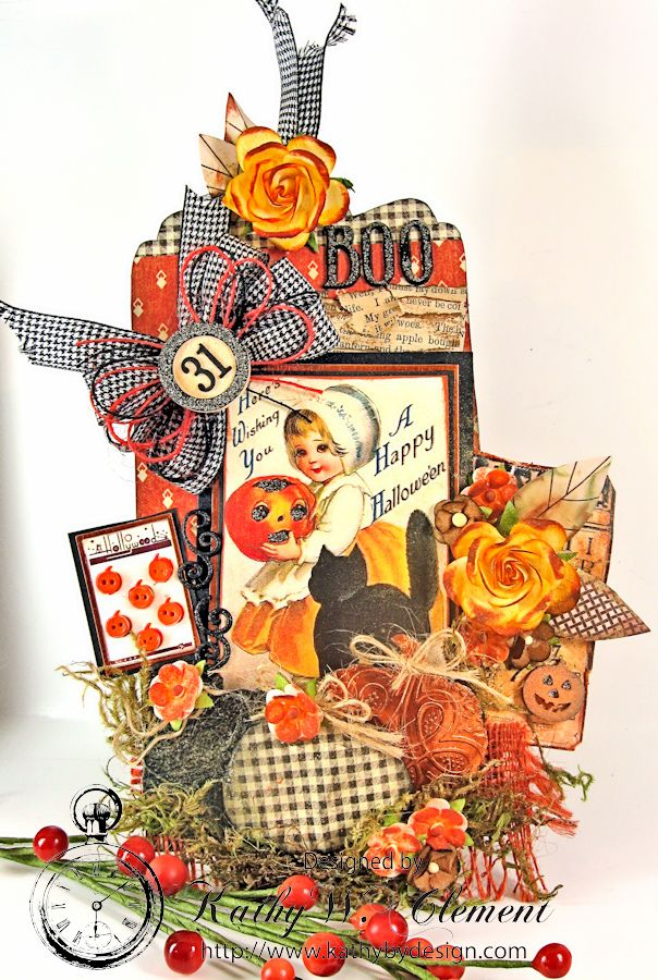 Kathy by Design Halloween Magnet 01