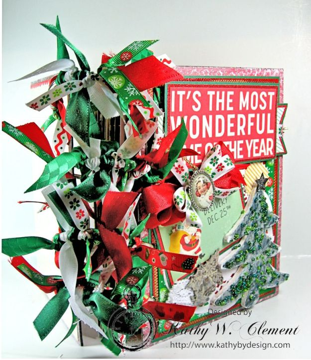 October Afternoon Retro Christmas Album for Really Reasonable Ribbon 18
