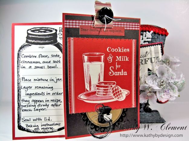 Santas sleigh recipe holder for CCB 09