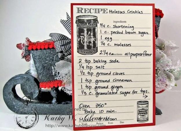 Santas sleigh recipe holder for CCB 11