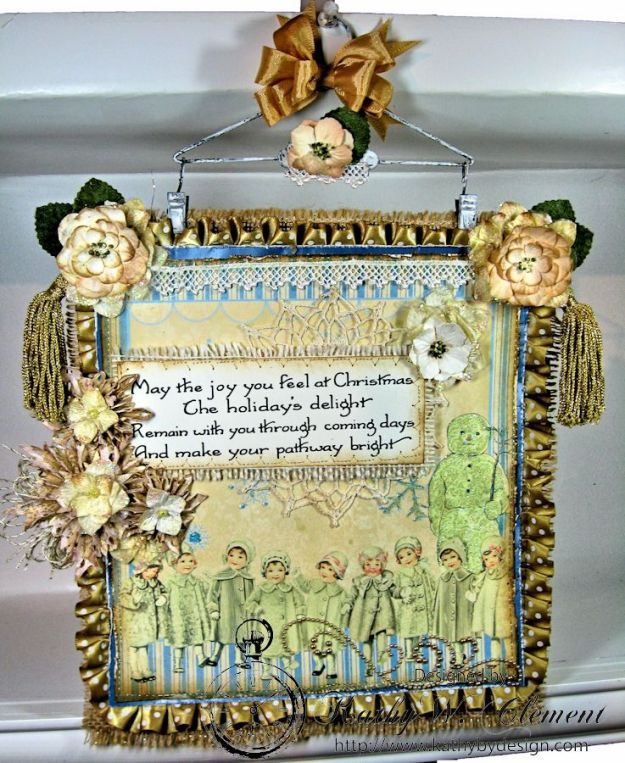 Kathy by Design/Shabby Chic Christmas Wall Hanging CS 02