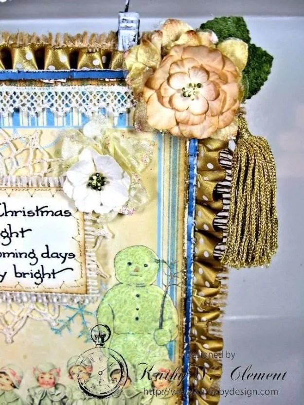 Shabby Chic Christmas Wall Hanging CS 04