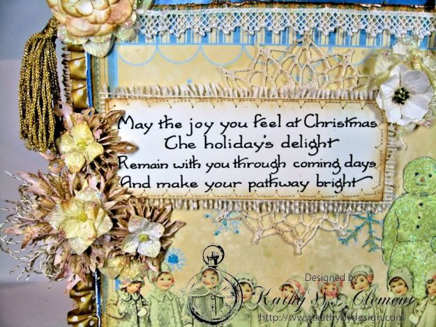 Shabby Chic Christmas Wall Hanging CS 06