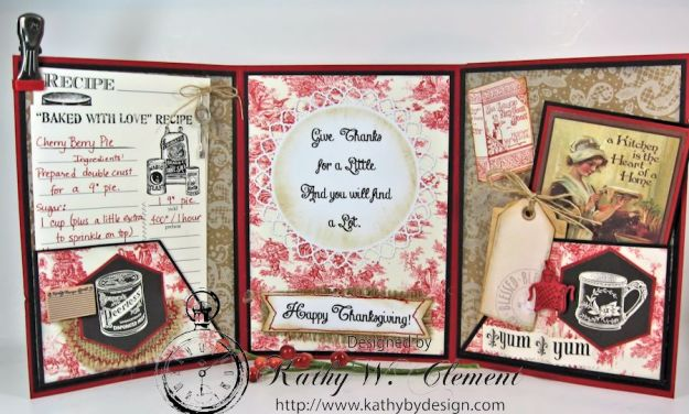 Tri Fold Christmas Card CCB 04