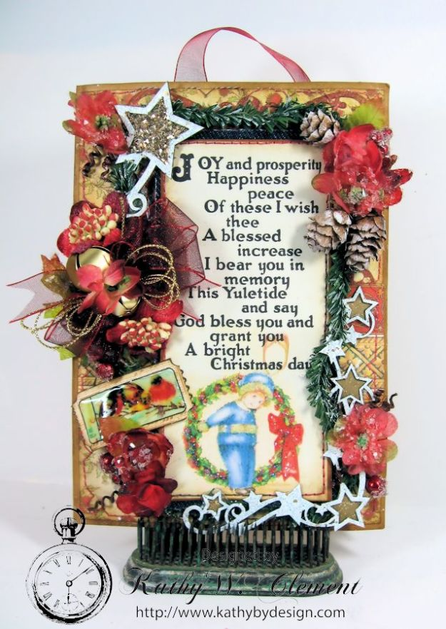 Kathy by Design/Christmas Joy Pocket Card 01