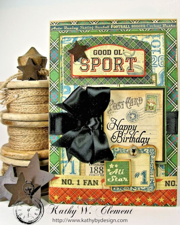 Kathy by Design/Good Old Sport Masculine Birthday Card01