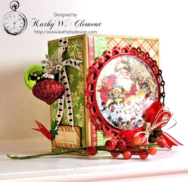 Kathy by Design Twas the Night Before Christmas book box with snowglobe 02