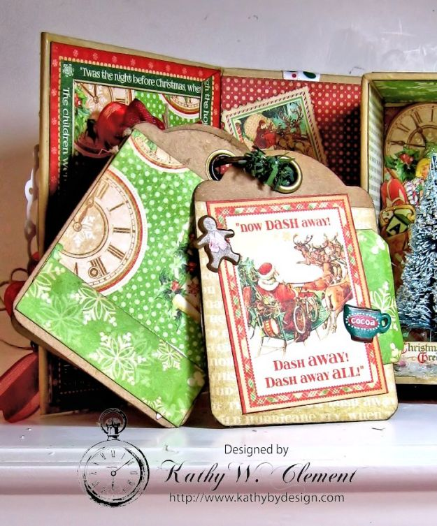 Kathy by Design Twas the Night Before Christmas book box with snowglobe 07