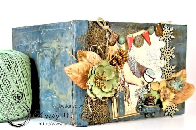 Kathy by Design Winter Bird Altered Book for Gypsy Laser Cuts 08
