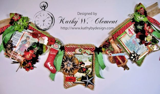 Vintage Style Christmas Banner 05