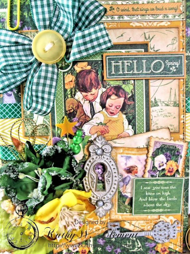 Hello Spring card for Frilly Funkie Layer it Up Challenge 03