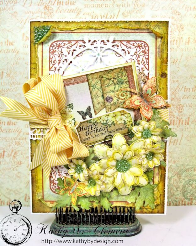 Butterfly Medley Birthday Card Tutorial Card 04