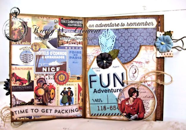Authentique Petaloo Blog Hop Travel Album 05