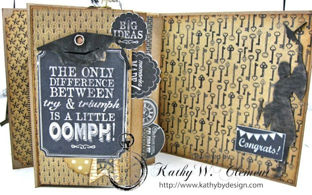 Authentique Accomplished Graduation Mini Album Tutorial by Kathy Clement for Gypsy Soul Laser Cuts 07