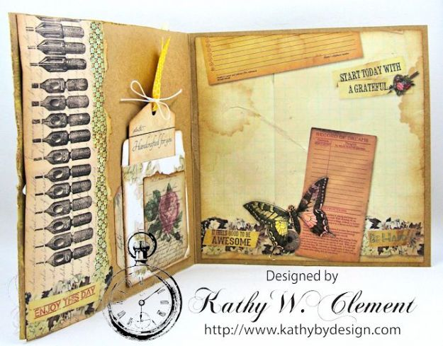 Butterfly Card Tutorial by Kathy Clement Canvas Corp Brands Mixed Media Papers and RRR June 2016 Ribbon Club Collection 06