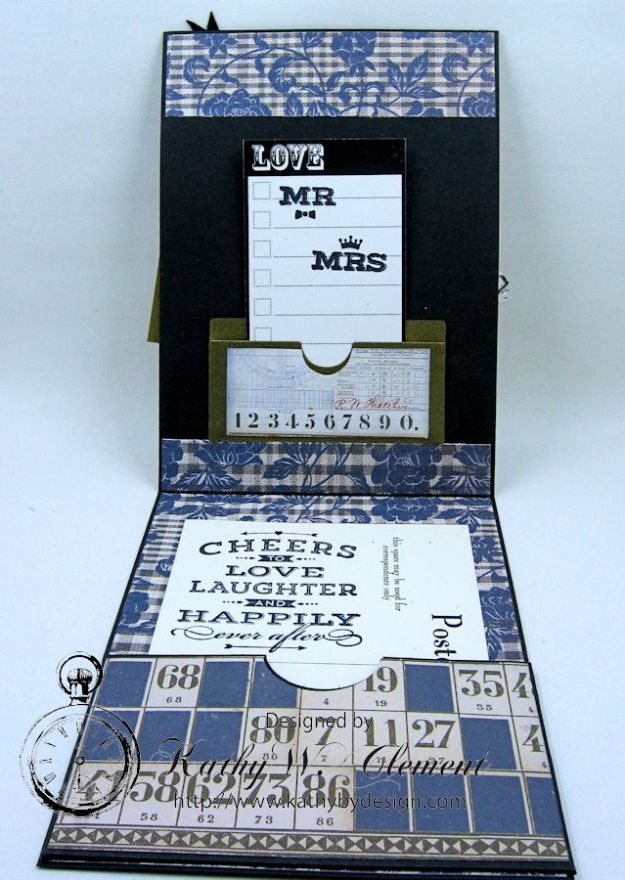 Dapper Wedding Card by Kathy Clement for Funkie Junkie Boutique 06