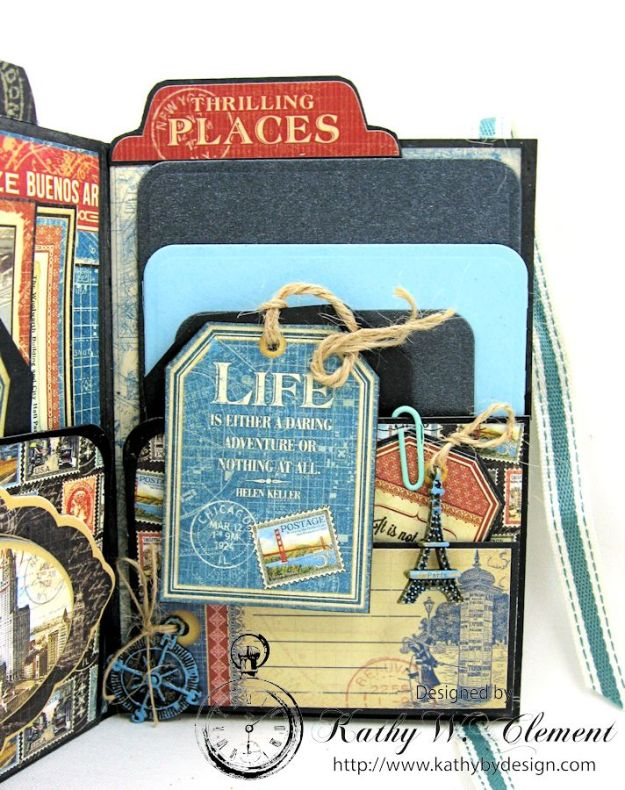 Oh the Places You'll Go Mini Album Frilly and Funkie Challenge by Kathy Clement 08