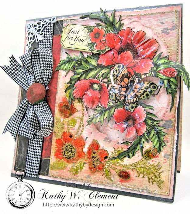 Poppy Cards by Kathy Clement for Heartfelt Creations Alumni Hop June 2016 03