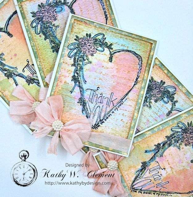 Tammy Tutterow Thank You Card designed by Kathy Clement for Frilly and Funkie Let the Words do the Talking Challenge 02
