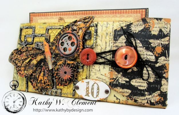 GSL Steampunk Butterfly Gift Wallet Tutorial by Kathy Clement for Gypsy Soul Laser Cuts Product by Graphic 45 DIY and Botanicabella Papers 03